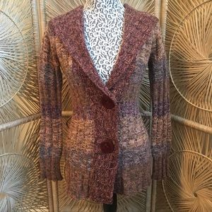 Anthropologie LUX Knit Sweater Cardigan Small